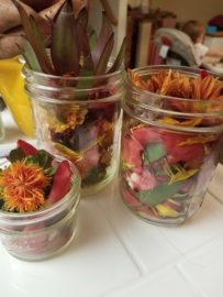 Festive Dried Flower Mason Jar Fall Centerpieces